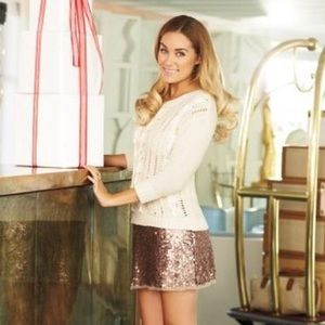 Rose Gold Sequin Mini-Skirt